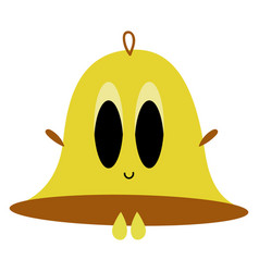 a smiling yellow bell or color vector image