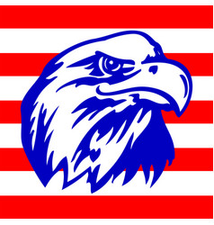 american eagle and strispe with usa flags vector image