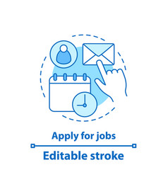 apply for job concept icon vector image