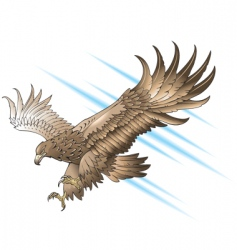attacking eagle vector image vector image