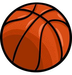 Basketball ball cartoon clip art vector