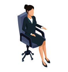 business woman on chair 3d vector image