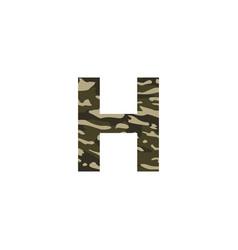 camouflage logo letter h vector image