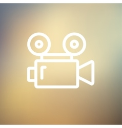 Cinematography thin line icon vector