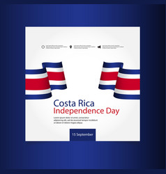 Costa rica independence day template design vector