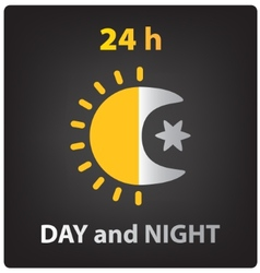 Day and night icon vector