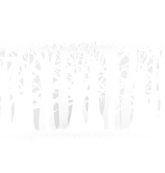 Eco nature forest background template whiteforest vector