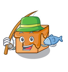 Fishing caramel candies mascot cartoon vector