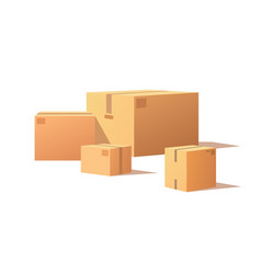 fragile packs closed packages with adhesive tape vector image