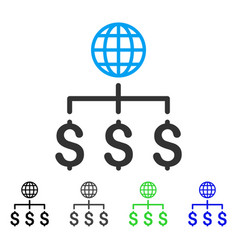 Global payments flat icon vector