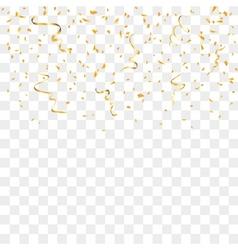 Gold confetti background vector