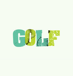 golf concept stamped word art vector image