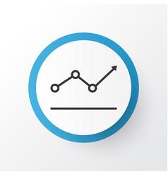 Growth point arrow icon symbol premium quality vector