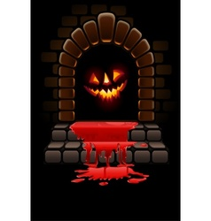 Halloween fireplace vector