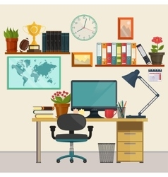 Home office business education set vector