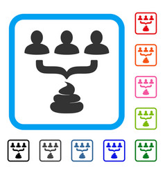 human shit aggregator funnel framed icon vector image