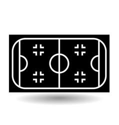 icon playground ice hockey vector image