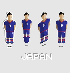 Japan Soccer Team Sportswear Template vector image