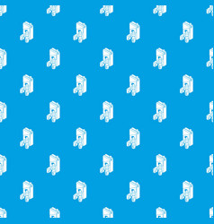 juice pack pattern seamless blue vector image