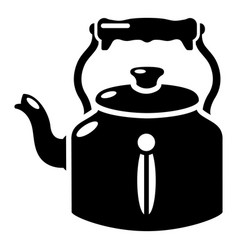 Kettle old icon simple black style vector