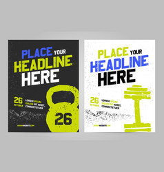 Layout design template for sport event vector