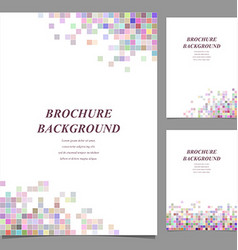 Modern brochure booklet template design vector