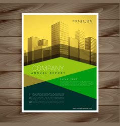 modern yellow and green business brochure vector image