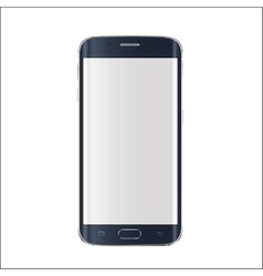 New version of modern smartphone with blank white vector image