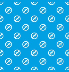 No mosquito pattern seamless blue vector