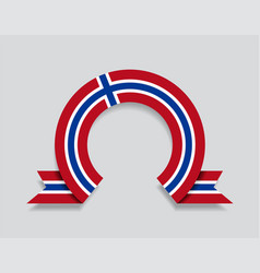 Norwegian flag rounded abstract background vector