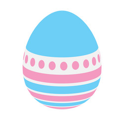 painted easter egg simple icon vector image