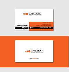 Painter business card vector