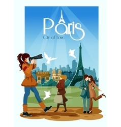 Paris Poster vector image