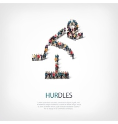 people sports hurdles vector image