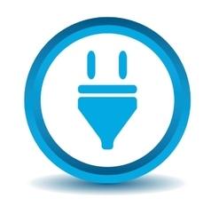 Plug icon blue 3D vector