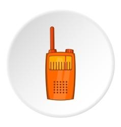 Radio transmitter icon cartoon style vector