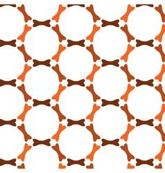 Repeating bones in circles seamless pattern vector