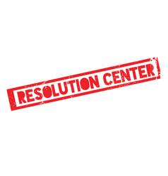 Resolution center rubber stamp vector