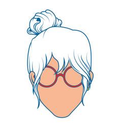 retro woman icon vector image