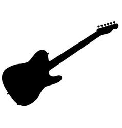 Rock guitar silhouette vector
