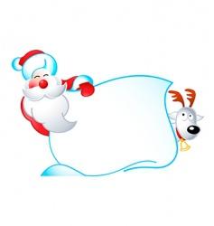 Santa banner vector image