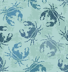 Seamless pattern of crabs vector image