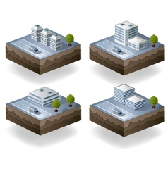 Set of icons isometric vector