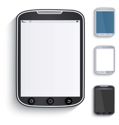 set of tablets touchscreen phones paper style vector image