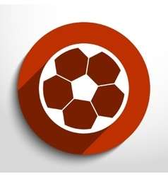 soccer ball web flat icon vector image