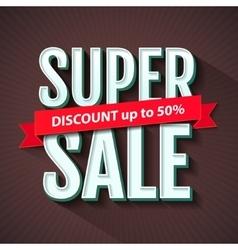 Super Sale inscription banner design template vector image vector image