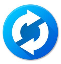 Sync blue circle icon design vector