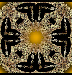 tapestry vintage gold seamless pattern abstract vector image