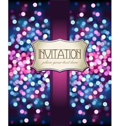 Template frame design for Invitation vector