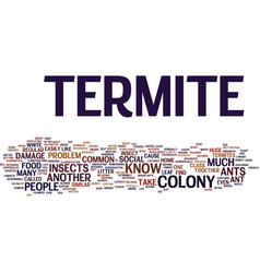 Termite vs text background word cloud concept vector
